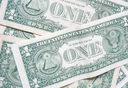 one dollar bill: back of one dollar bills background