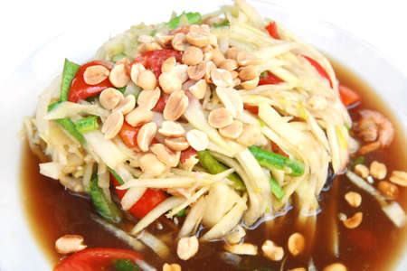 Spicy papaya salad, Thai food  photo