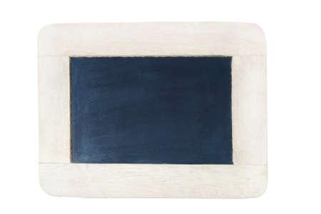 slate chalk board isolated on white