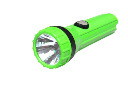 Green flashlight Banco de Imagens - 21097111