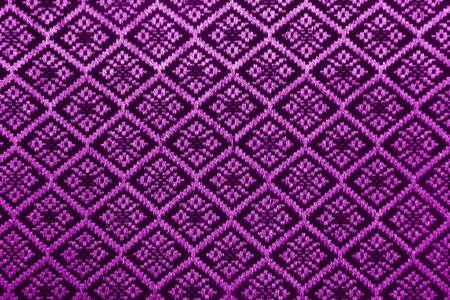 Purple diamond pattern fabric  photo
