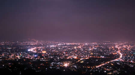 Chiang Mai city view at nigh, Thailand Stock Photo - 21097234