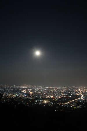 Chiang Mai city view at nigh, Thailand  Standard-Bild