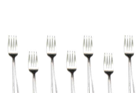 formal place setting: fork background  Stock Photo