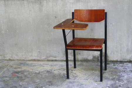 wooden school chair