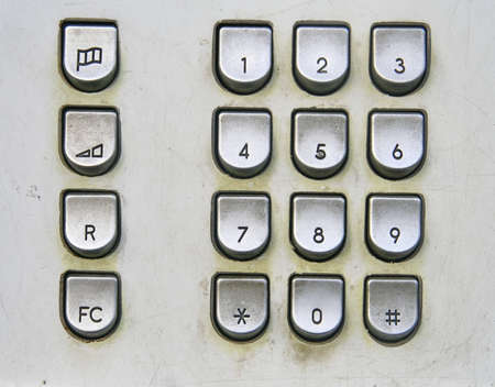Telephone keyboard in public phone  photo