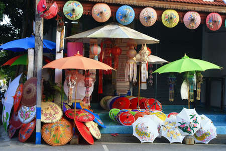 umbrella shop, Chiang Mai ,Thailand  photo