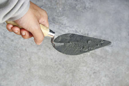 hand hold construction trowel  photo