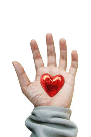 heart on hand photo