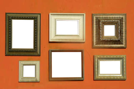picture frames on wall  photo
