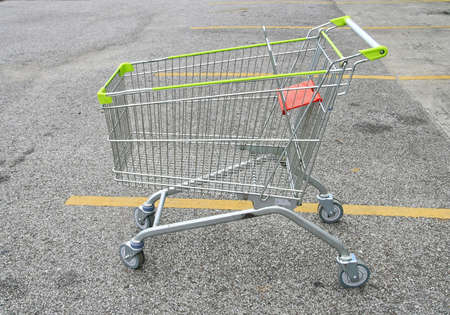Shopping Cart at car park  photo