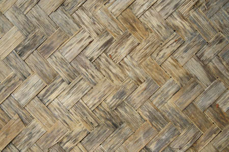 Old bamboo wood texture ,Thai handwork  photo