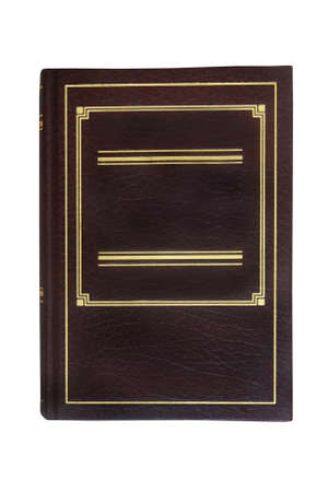 a brown hardcover book isolated