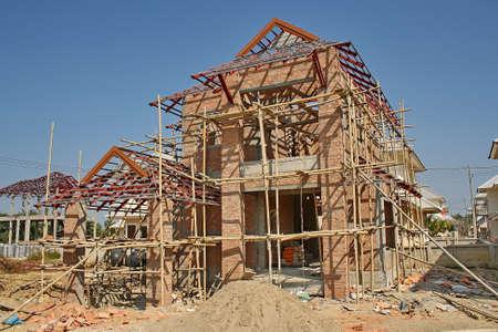 argent: new house under construction