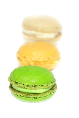 colorful macaroons isolated  photo