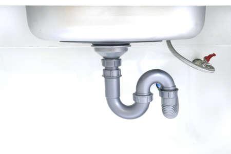 drainpipe of sink  Standard-Bild