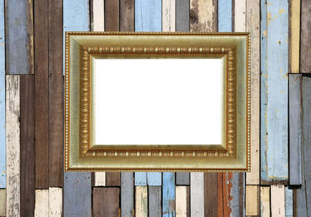 picture frame on wood wall  photo