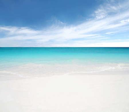 clean beach and blue sky