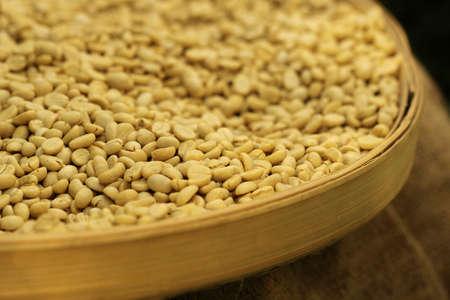 unroasted: raw coffee bean before roast