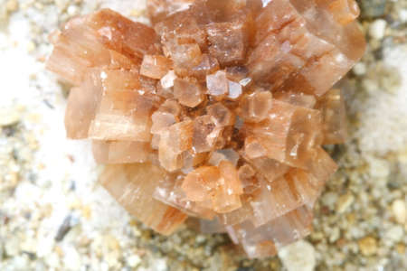 macro calcite crystal isolated, mineral photo