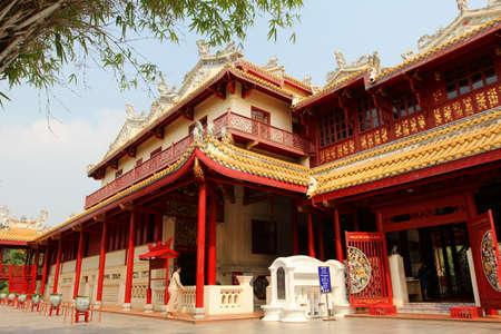Bang Pa In Palace, red China temple,Ayutthaya, Thailand