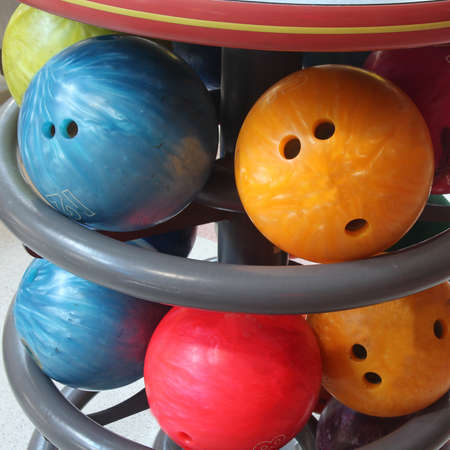 close up bowling ball for play