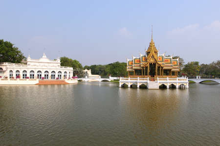 Bang Pa In Palace Thai art palace, Ayutthaya, Thailand