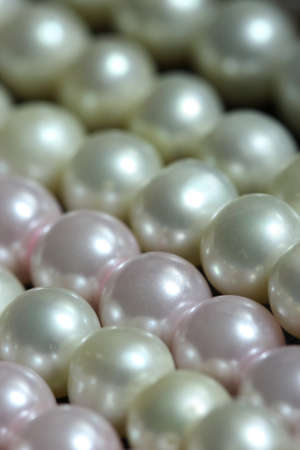close up gold bead ,golden ball and pearl photo