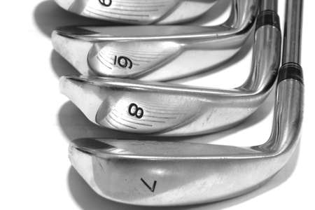 golf club: closeup golf putter head