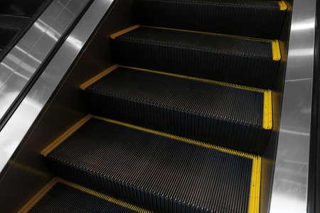 escalate: closeup escalator detail Stock Photo