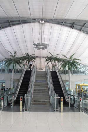 BANGKOK - SEPTEMBER 3 :The main concourse of Suvarnabhumi Airport , designed by Helmut Jahn is large single-building airport terminal on Sep 3, 2014,Bangkok ,Thailand