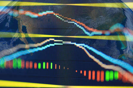 stock chart: stock chart Stock Photo