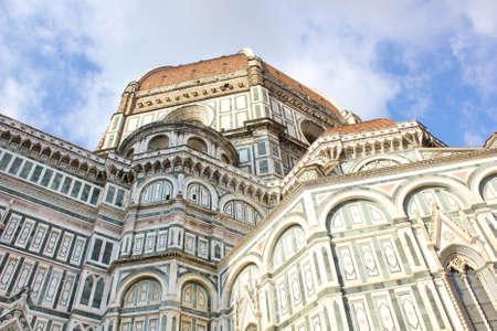 santa maria del fiore: View of Cathedral Santa Maria del Fiore in Florence, Italy Stock Photo