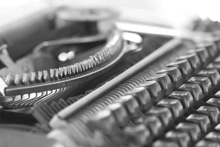 monotone: Closeup Classic typewriter, monotone Stock Photo