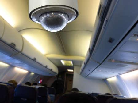 hijack: CCTV inside airplane background