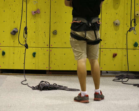 simulator: man with Climbing simulator wall