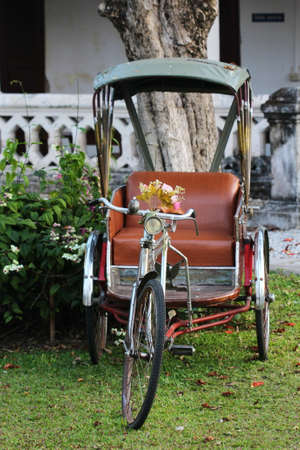 peddle: classic tricycle in Thailand Stock Photo
