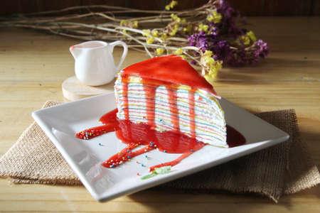 frescura: fresa frescura y la torta de cresp�n, Caf�
