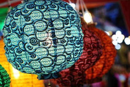 colorful lantern: colorful lantern in shop