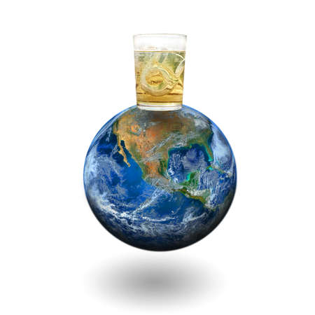 whiskey glass: whiskey glass on the earth.