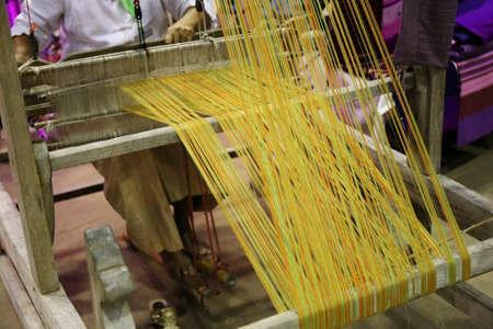 loom: closeup traditional Asia loom detail