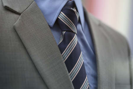 suite: necktie with suite in model Stock Photo