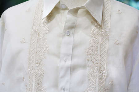 mines: Philippines shirt, Traditional Costume Barong Tagalog Stock Photo