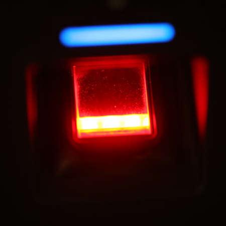 safty: finger scanner for access password, safty door Stock Photo