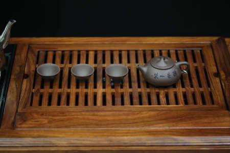 chinese tea pot: Chinese tea pot set on table