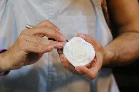 women hand craft, soap crafting