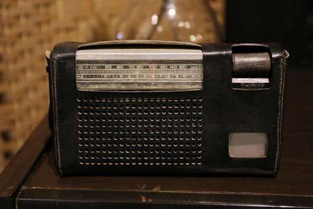 receiver: vintage analog radio receiver