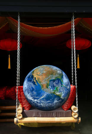 tether: the earth on swing