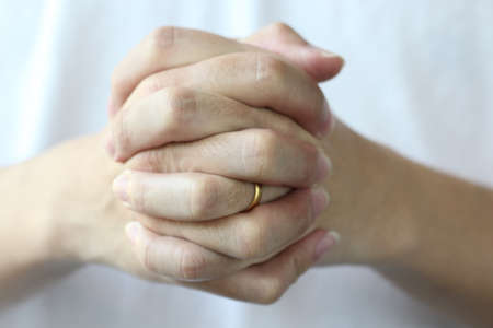 trustful: two hand hold, help Stock Photo