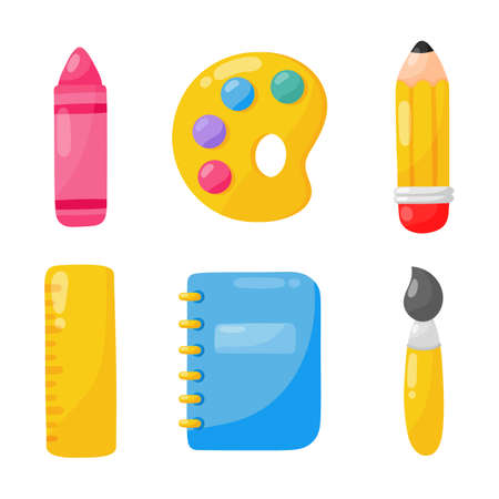education items. school icon isolated on white background. vector Illustration.